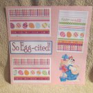 """""""So Egg-cited a""""-Premade Scrapbook Page 12x12"""