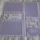"""""""Happy Easter Bunny with Egg a""""-Premade Scrapbook Page 12x12"""