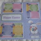 """""""Happy Easter Bunny with Flowers""""-Premade Scrapbook Page 12x12"""