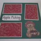 """Apple Picking a""-Premade Scrapbook Page 12x12"