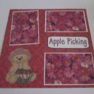 """Apple Picking b""-Premade Scrapbook Page 12x12"