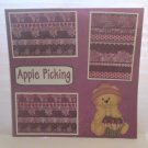 """Apple Picking""-Premade Scrapbook Page 12x12"