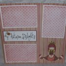 """Autumn Delights""-Premade Scrapbook Page 12x12"