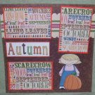 """Autumn Girl""-Premade Scrapbook Page 12x12"
