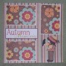 """Autumn Memories tc""-Premade Scrapbook Page 12x12"