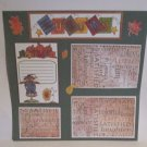 """Autumn Scarecrow c""-Premade Scrapbook Page 12x12"