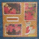"""Bountiful Harvest""-Premade Scrapbook Page 12x12"