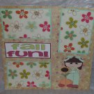 """Fall Fun Girl""-Premade Scrapbook Page 12x12"