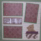 """""""Happy Fall Y'all""""-Premade Scrapbook Page 12x12"""