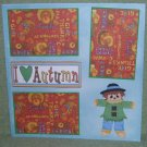 """I Love Autumn Boy""-Premade Scrapbook Page 12x12"