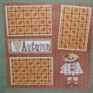 """I Love Autumn Girl""-Premade Scrapbook Page 12x12"