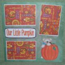 """Our Little Pumpkin a""-Premade Scrapbook Page 12x12"