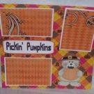 """Pickin Pumpkins""-Premade Scrapbook Page 12x12"