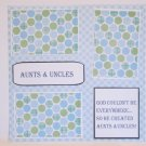 """""""Aunts and Uncles g""""-Premade Scrapbook Page 12x12"""