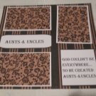 """""""Aunts and Uncles a""""-Premade Scrapbook Page 12x12"""