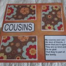 """Cousins 1""-Premade Scrapbook Page 12x12"