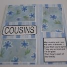 """Cousins 1a""-Premade Scrapbook Page 12x12"