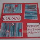 """Cousins 1b""-Premade Scrapbook Page 12x12"