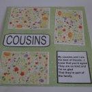 """Cousins 1c""-Premade Scrapbook Page 12x12"