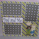 """Dad and Me Girl""-Premade Scrapbook Page 12x12"