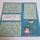 """Daddy's Little Girl a""-Premade Scrapbook Page 12x12"