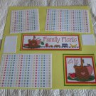 """""""Family Picnic bl""""-Premade Scrapbook Page 12x12"""