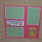 """Family Picnic""-Premade Scrapbook Page 12x12"