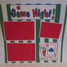 """Game Night bl c""-Premade Scrapbook Page 12x12"