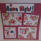 """Game Night c1""-Premade Scrapbook Page 12x12"