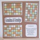 """Grandma and Grandpa a""-Premade Scrapbook Page 12x12"