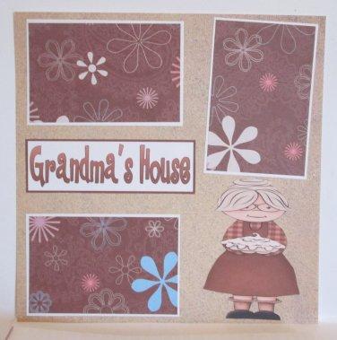 """Grandma's House""-Premade Scrapbook Page 12x12"