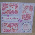 """I Love My Aunt a""-Premade Scrapbook Page 12x12"