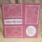"""I Love My Aunt b""-Premade Scrapbook Page 12x12"