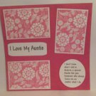 """I Love My Auntie""-Premade Scrapbook Page 12x12"