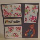 """I Love My Brother Bear""-Premade Scrapbook Page 12x12"