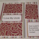 """I Love My Uncle a""-Premade Scrapbook Page 12x12"