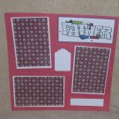 """Like Father Like Son t""-Premade Scrapbook Page 12x12"
