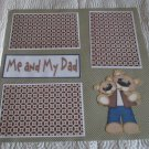 """Me and My Dad Boy a""-Premade Scrapbook Page 12x12"