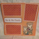"""Me and My Daddy Boy""-Premade Scrapbook Page 12x12"