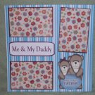 """Me and My Daddy Girl""-Premade Scrapbook Page 12x12"