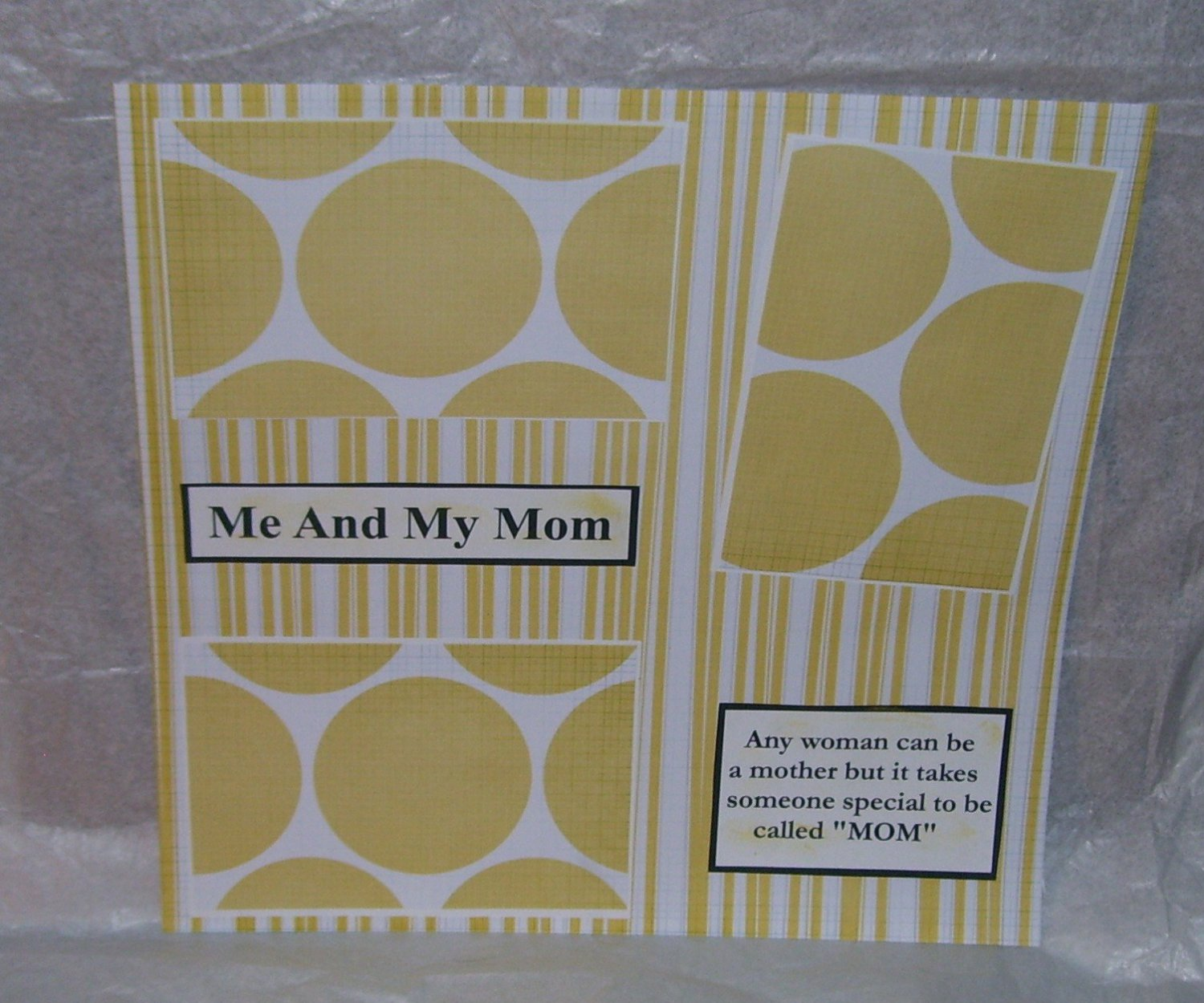 """""""Me and My Mom b""""-Premade Scrapbook Page 12x12"""