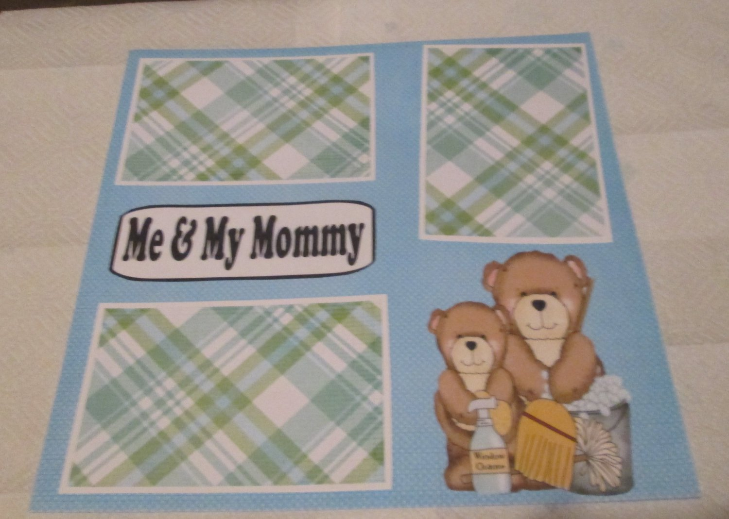 """""""Me and My Mommy Boy""""-Premade Scrapbook Page 12x12"""