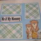 """Me and My Mommy Boy""-Premade Scrapbook Page 12x12"