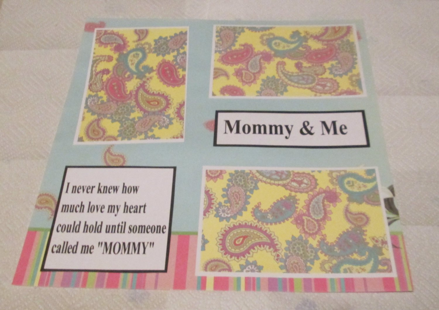 """""""Mommy and Me""""-Premade Scrapbook Page 12x12"""