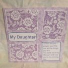 """""""My Daughter 2""""-Premade Scrapbook Page 12x12"""