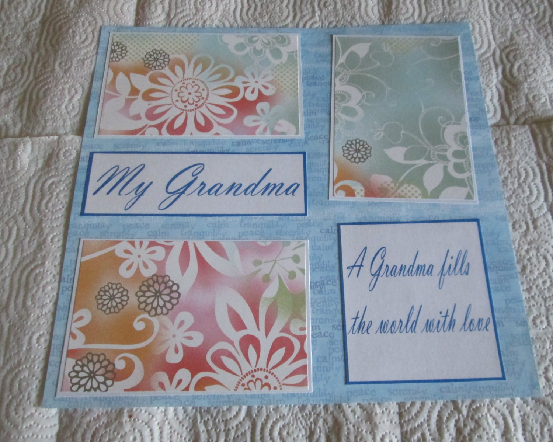 """My Grandma 1""-Premade Scrapbook Page 12x12"