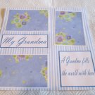 """My Grandma a""-Premade Scrapbook Page 12x12"