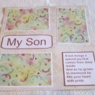 """My Son a""-Premade Scrapbook Page 12x12"