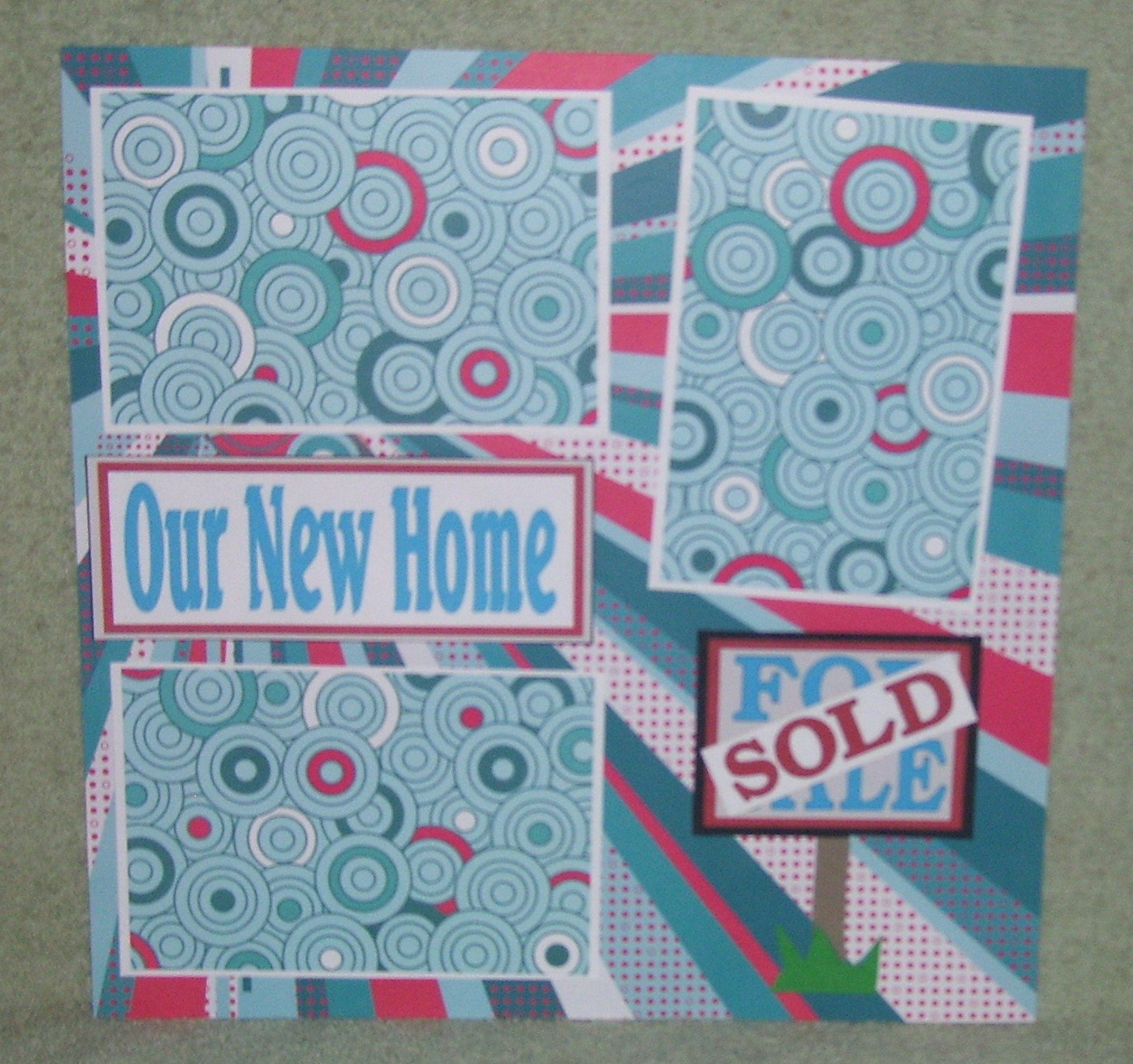 """""""Our New Home""""-Premade Scrapbook Page 12x12"""