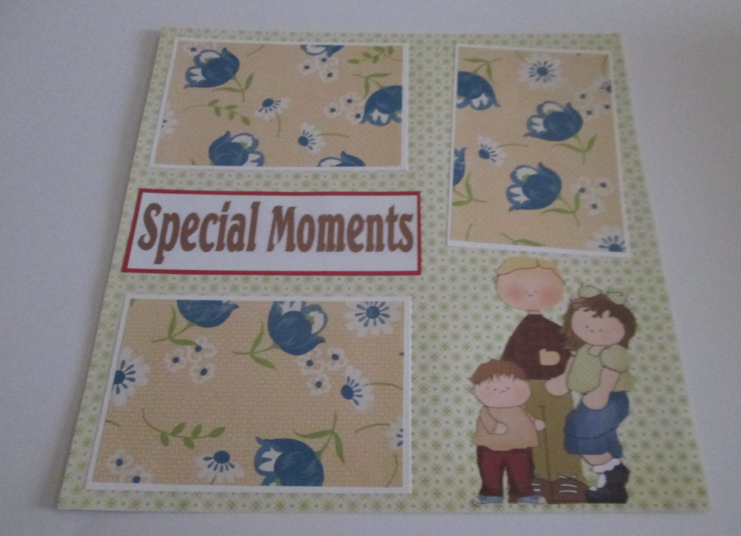 """""""Special Moments Family""""-Premade Scrapbook Page 12x12"""